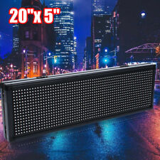 20 X 5 Full Color Led Sign Programmable Scrolling Message Board 6000cdm Us