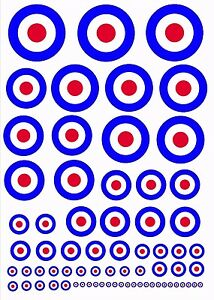 Scale-RAF-Model-Plane-Roundels-Exterior-Vinyl-DecalS-Stickers-Various-Scales