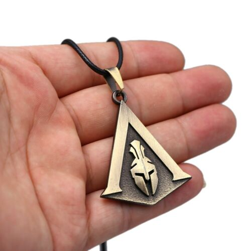 300 Spartans Pendant Gold Silver Necklace Assassins Creed Odyssey King Leonidas