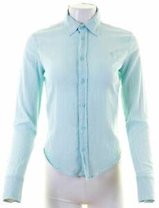 DIESEL-Womens-Shirt-Size-12-Medium-Blue-Cotton-FW11