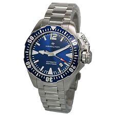 NEW Hamilton Khaki Navy Frogman Auto Blue Dial Men's Automatic Watch H77705145