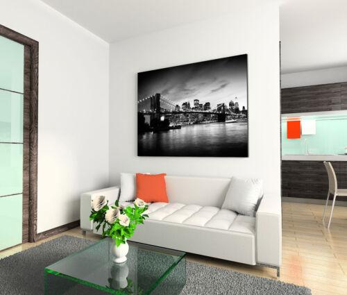 nacht schwarz-weiß,usa Leinwandbild 120x80cm auf Keilrahmen  New York