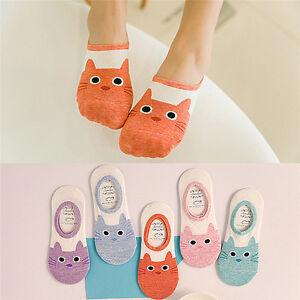 Cute-Print-Cat-Socks-Women-Summer-Animal-Funny-Low-Cut-Ankle-Socks-Cotton-SockZX