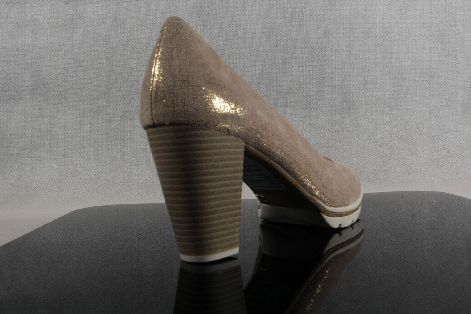 Marco Tozzi metallic Pumps Ballerina Slipper düne metallic Tozzi Echtleder  NEU 87c672