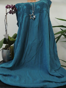 Damen Kleid Größe 46 48 50 52 54 Übergröße Kleider Maxikleid Uni Spitze 75  eBay