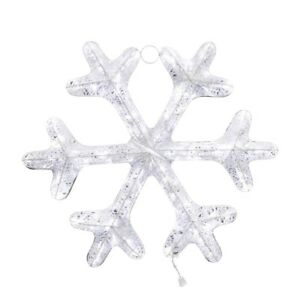 Snowflake-Twinkling-Lights-LED-White-Tinsel-Christmas-Decoration-Pre-Lit-36-in