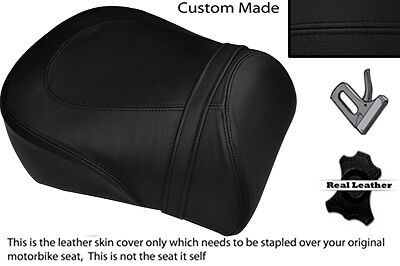 Negro Stitch Custom encaja Suzuki intruso Vl 1500 98-04 trasera cubierta de asiento