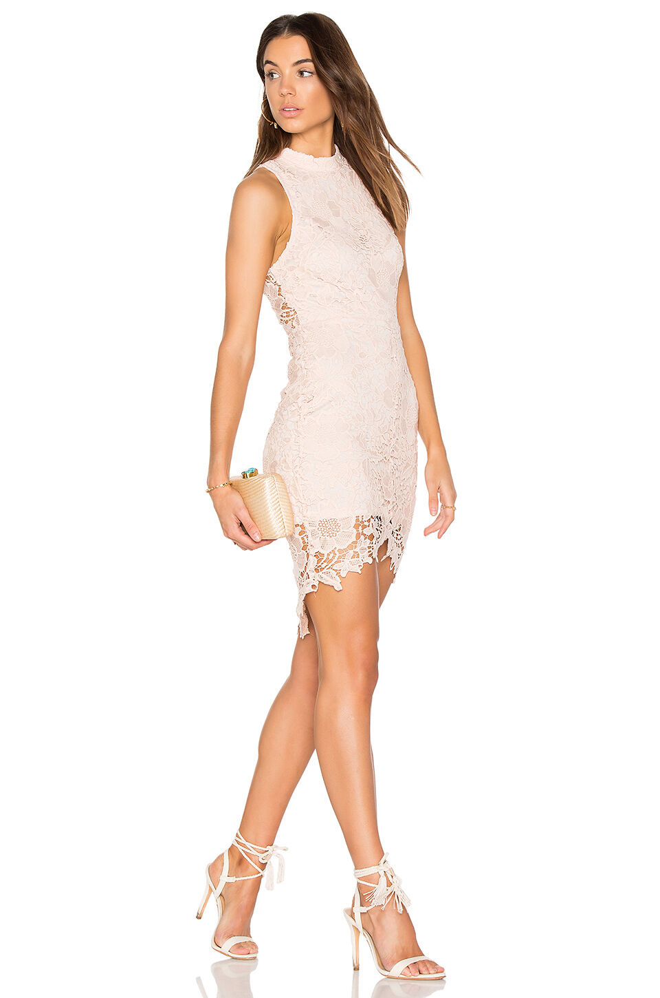NEW ASTR THE LABEL LACE SAMANTHA DRESS SIZE L (10-12)  104 blueSH  NORDSTROM