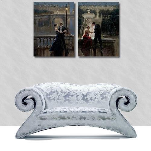 Brent Lynch  Twilight Romance telaio-immagine telaio-immagine telaio-immagine tela COPPIA giardino notte culto 01e3f7