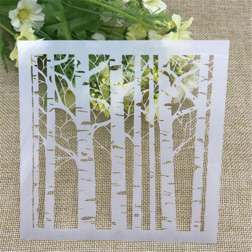 White Birch Layering Stencils Scrapbooking Photo Album Embossing DIY Card Craft
