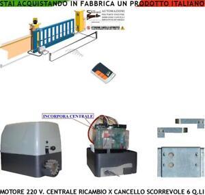 Motori Per Cancelli A Due Ante Faac.Dettagli Su Cancello Scorrevole 6 Q Li Motore 220 V Centrale Radioc Ricambio Faac Fadini Bft