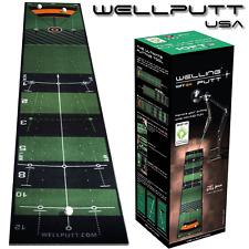"""NEW 2017"" WELLING Putt 3 METRI Pro Speed Golf Putting Mat Golf Allenamento Aiuto"