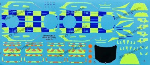 F15 Battenberg Decals//Transfers. 2D Models Code 3 1//43 Police BMW X5