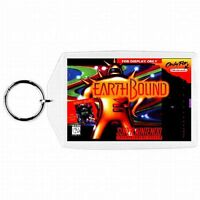 Super Nintendo Snes Earthbound Game Box Cover Cartridge Keychain