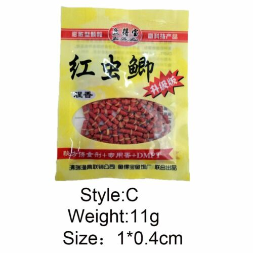 Durable Fishing Lures Worm Smell Crankbaits Hooks Red Grass Carp Baits