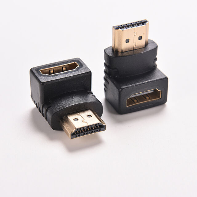 2x90 270Degree Right Angle Angled HDMI Male to Female Adapter Connector Cable