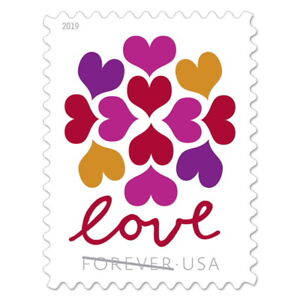 USPS-New-Hearts-Blossom-Pane-of-20