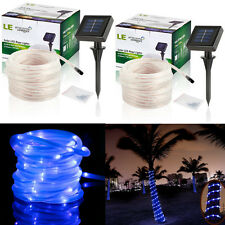 2 x 33FT 100 LED Solar Rope Tube Light LED String Strip Waterproof Outdoor Party