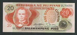 PHILIPPINES  20  PISO 1978     P-162b  UNC
