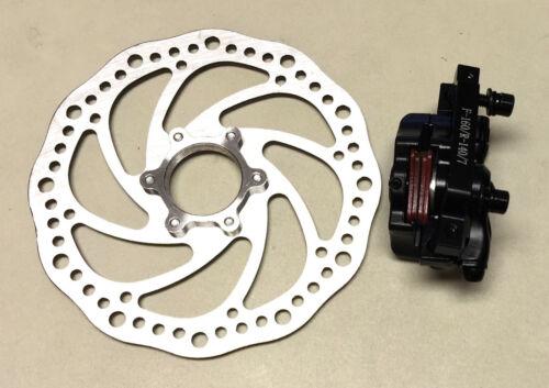 Micargi BICYCLE BIKE DISC BRAKE Front 160mm ROTOR CALIPER w Center Adapter