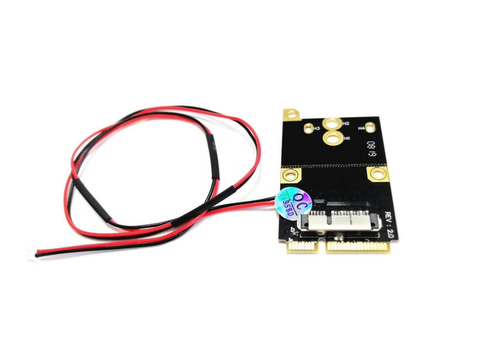 1.25mm 2 wire mini PCI-E Wireless Wifi Card converter BCM943602CS BCM94331CD