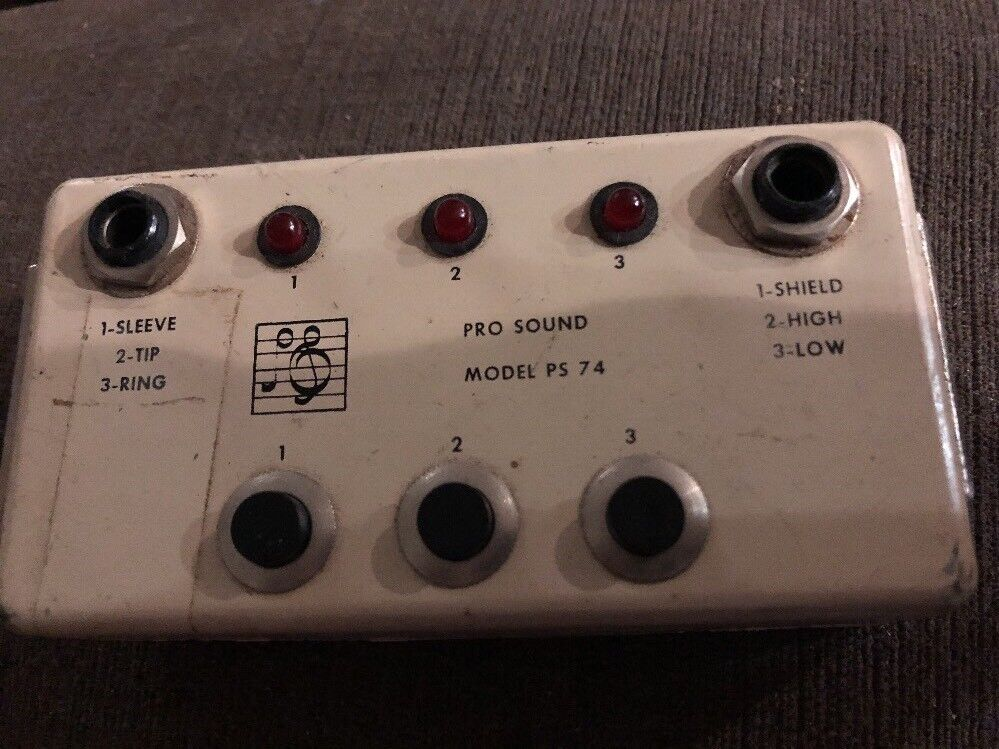 Pro Sound PS-74 Cable Tester- Vintage