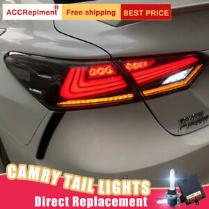 NEW-Set-For-Toyota-Camry-LED-Taillights-Assembly-All-LED-Rear-Lamps-2018-2020