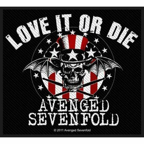 AVENGED SEVENFOLD Patch Toppa Stronger Love It Or Die OFFICIAL MERCHANDISE