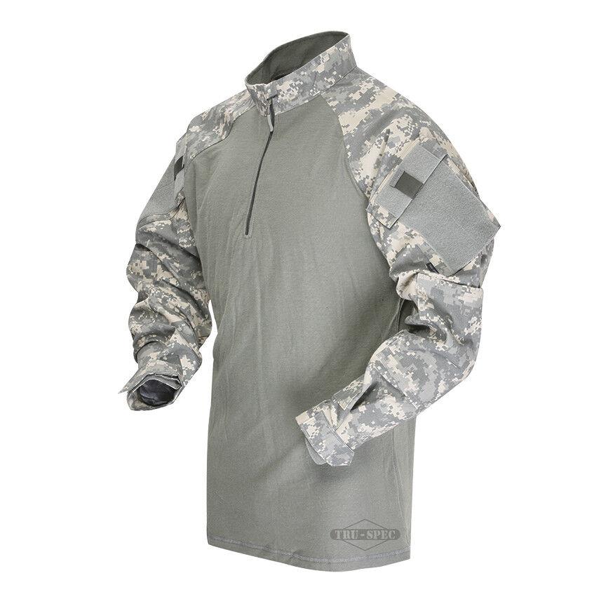 Tru-Spec Army Digital/Foilage 1/4 Zip TRU Combat Shirt 50/50 NYCO RS