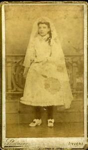 STAINIER-ANVERS-Belgique-portrait-communiante-fashion-mode-CDV-photo-circa-1880