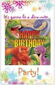 Image Is Loading 20 Dino Mite Dinosaur Birthday Party Invitations 5x7