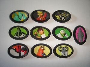 BEN 10 ALIEN FORCE 3D MAGNETS FIGURINES SET - FIGURES COLLECTIBLES MINIATURES