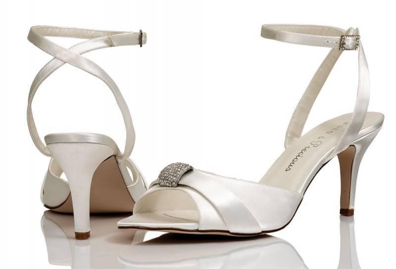 Ivory Satin Bridal Bridesmaid Wedding Shoes 4,5,6,7,8 By Pure & Precious Keira