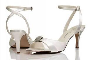 Marfil De Raso Dama De Honor Boda Zapatos 4,5, 6,7, 8 de Puro & PRECIOSO keira