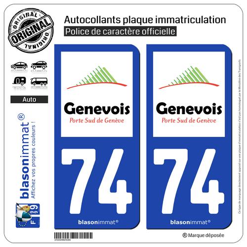 2 Autocollants Plaque Immatriculation Auto : 74 Saint-julien-en-genevois - Agglo Heilzaam Voor Het Sperma