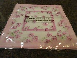 "SET OF 12 LINEN 13"" SQUARE LINEN HANDKERCHIEFS-FLORAL-MULTI COLORS-NIP-MADE IN I"