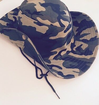 British Military Army Jungle Special Forces Head Green Bush Hat Cap Camo Mens