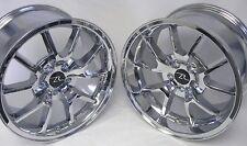 "17"" Chrome Mustang FR500 Wheels Deep Dish 17x9 17x10.5 Inch 5x114.3 Rims 94-04"