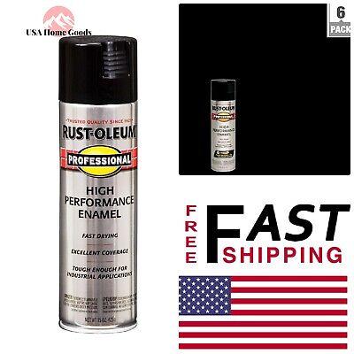 Enamel Gloss Black Spray Paint (6-Pack) 15 oz  High Performance Rust  Preventive 320066041800 | eBay