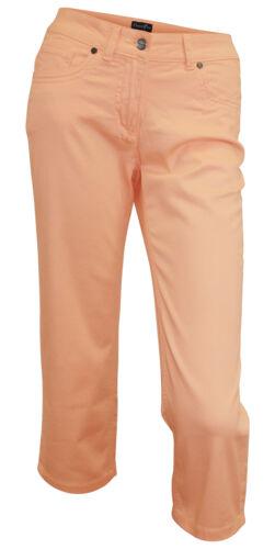18 Orange Clair Capri STRETCHJEANS broderie 36 Dress dans 3//4 Jeans kurzgr