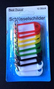 20-120 Schlüsselschilder 5 Farben Haus Schlüsselanhänger zum Beschriften Bunt