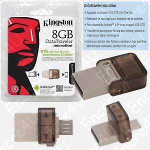 Cle-USB-8-Go-OTG-Datatraveler-MicroDuo-Kingston-dispo-aussi-en-16-32-64-Go-Giga