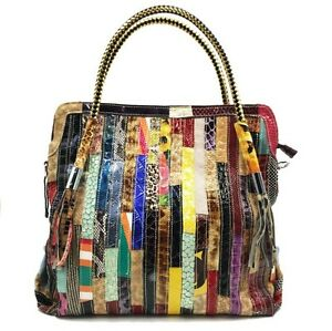 """WF"" Brand New 2017 Genuine Patent Leather Handbags Shoulder Bag Multi-Color"