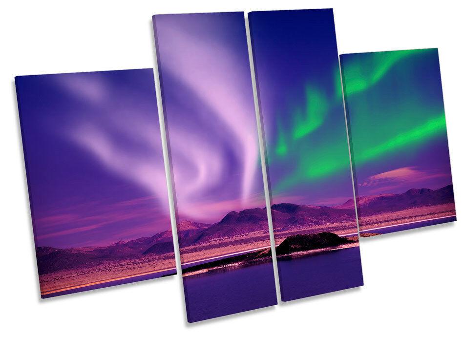 Espacio Northern Lights noche  LONA pa rojo  noche arte Foto impresión de panel de múltiples b46d8b