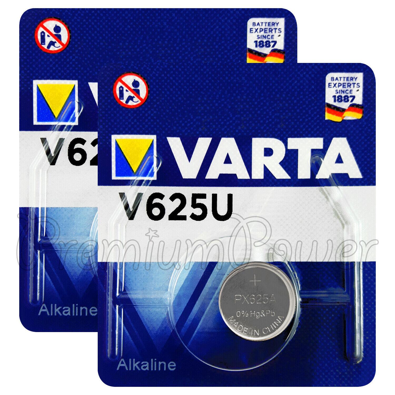 1 x batería Varta V 625 pila de botón v625u metales alcalinos 4626 1,5v V 625u lr9 px625a