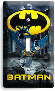 BATMAN FOREVER SUPERHERO SINGLE LIGHT SWITCH WALL PLATE ...