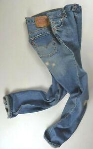 Neufs-vintage-LEVI-039-S-501-Jazz-Rip-Repair-Jeans-W30-L32-homme-coupe-droite