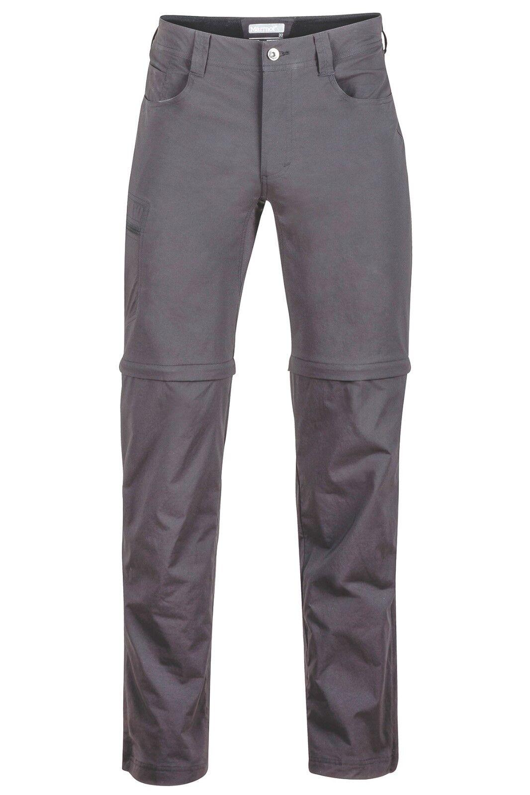 Marmot Transcend ConGrünible Pant Sie, Zip-Off Herrenhose, slate grau