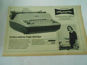 Publicite-de-Presse-1966-Olympia-Machine-de-bureau-Ecriture-moderne