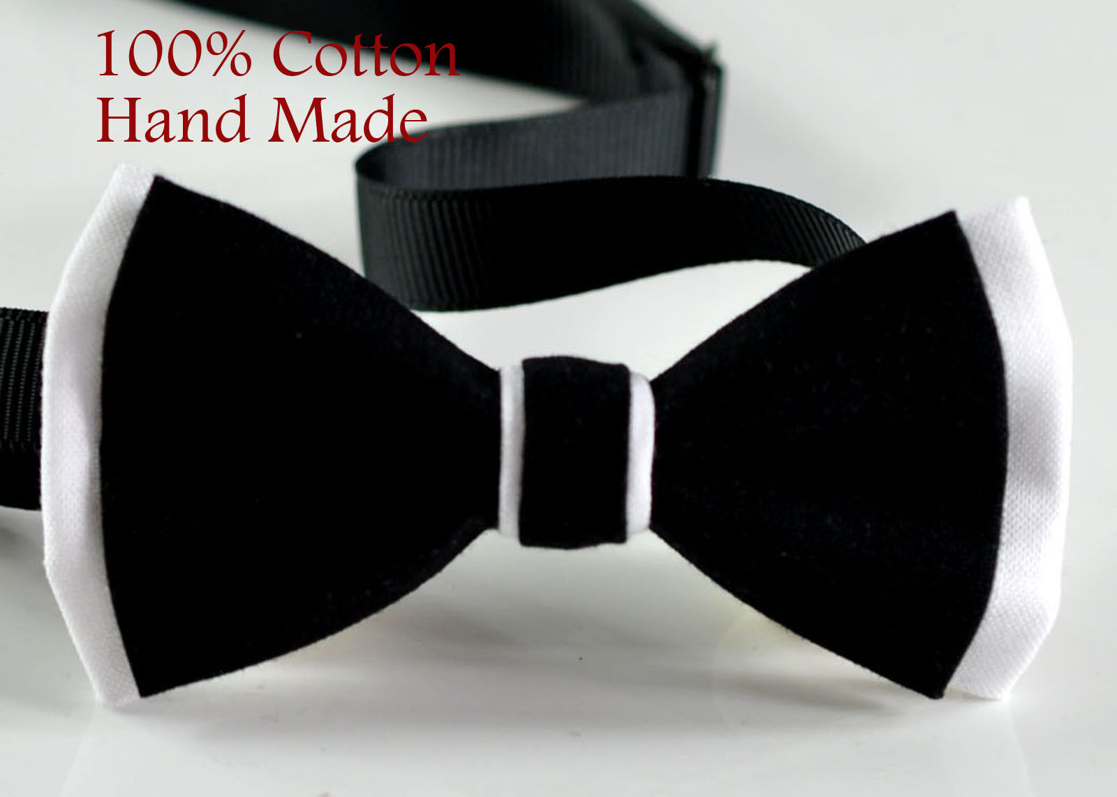 New Men Black White Classical PVC Fashion Shining Leather Bow Tie Wedding Party